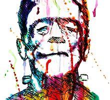 Rainbow Frankenstein by faithhorror