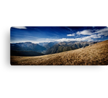 Montagne in Panorama Canvas Print