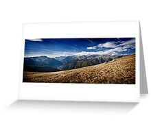 Montagne in Panorama Greeting Card