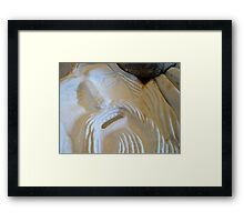 Marble Face from the Past Framed Print
