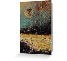 New Zealand at full moon Greeting Card