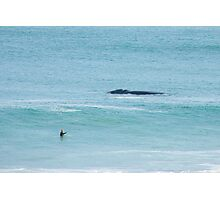 Surfing with Whales. Photographic Print