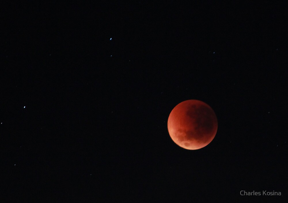 Eclipsed moon by Charles Kosina