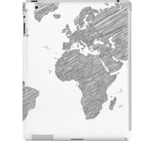Sketchy Map of the World iPad Case/Skin