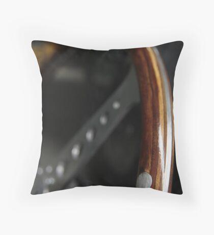 Macro 'D-type' Throw Pillow
