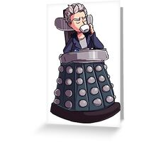 "Doctor Who - Capaldi On Davros ""Chair"" Greeting Card"