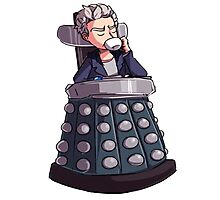 "Doctor Who - Capaldi On Davros ""Chair"" Photographic Print"