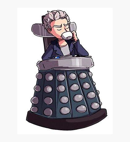 "Doctor Who - Capaldi On Davros ""Chair"" Photographic Print"