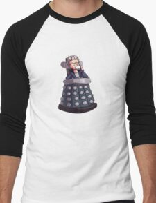 "Doctor Who - Capaldi On Davros ""Chair"" Men's Baseball ¾ T-Shirt"