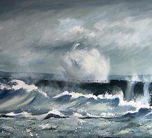 Middleton Break Water, Hartlepool, North East England by Sue Nichol