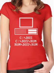 Run DOS Run Women's Fitted Scoop T-Shirt