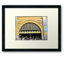 Flinders Clocks Framed Print