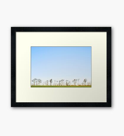 The minimalistic landscape of Jæren Framed Print