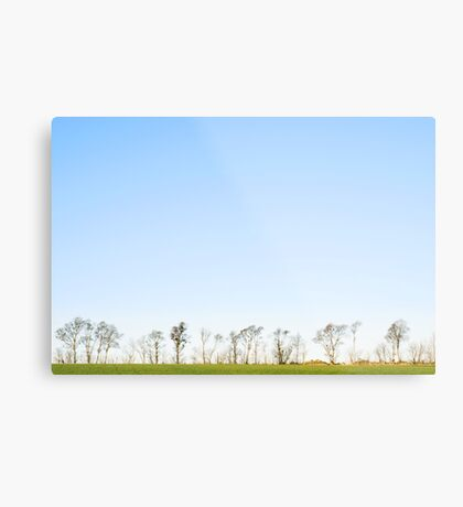 The minimalistic landscape of Jæren Metal Print