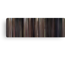 Moviebarcode: Back to the Future (1985) Canvas Print