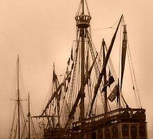 tall ship sepia by brian pendrey