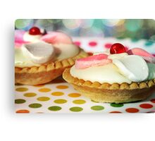 Polka dots and Pie Canvas Print