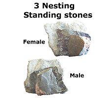 Complex Meanings - 3 nesting standing stones by stonemagic