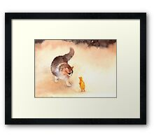 """""Don't Eat Me, Please!"" Framed Print"