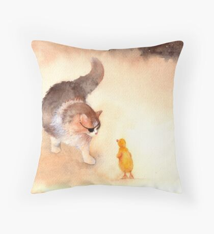 """""Don't Eat Me, Please!"" Throw Pillow"