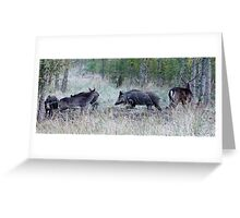 invasion on the rut stand Greeting Card