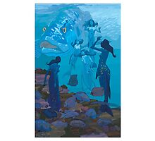 5 Mermaids Photographic Print