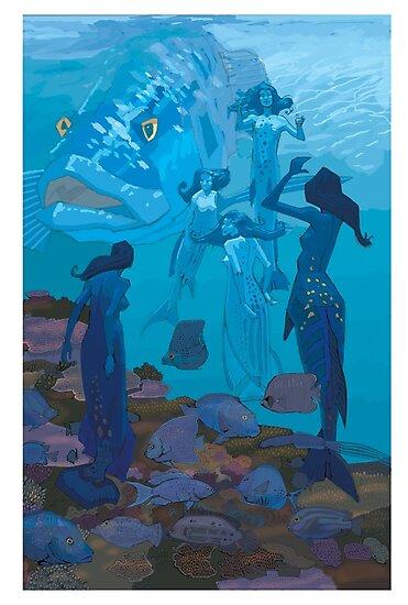 5 Mermaids by David  Kennett