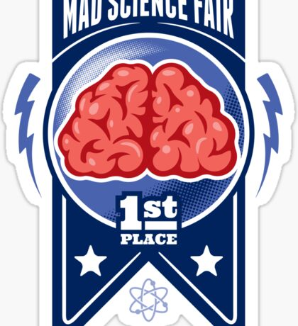 First Place at the Mad Science Fair Color Sticker