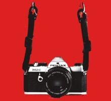 Vintage 35mm SLR Camera Pentax MX  Baby Tee