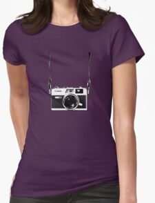 Vintage 35mm Rangefinder Camera Canon Canonet QL17 GIII Womens Fitted T-Shirt
