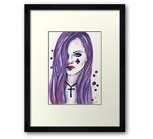 Queen of Clubs Framed Print