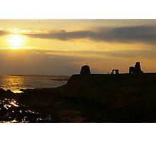 Sunset Over Newark Castle Photographic Print
