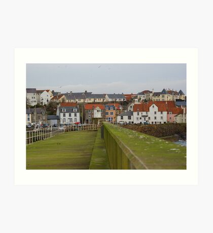 A Village View From Harbour Wall Art Print