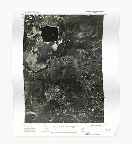 USGS Topo Map Oregon Newberry Crater 4 NW 280919 1974 24000 Poster