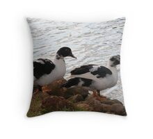Ducks By The Pond Throw Pillow