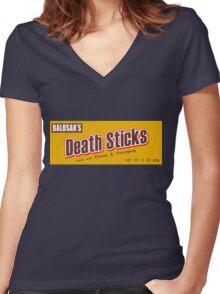 Death Duds Women's Fitted V-Neck T-Shirt