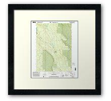 USGS Topo Map Oregon Location Butte 280559 1999 24000 Framed Print
