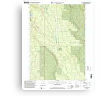 USGS Topo Map Oregon Location Butte 280559 1999 24000 Canvas Print
