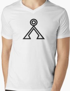 Stargate Earth Symbol Mens V-Neck T-Shirt
