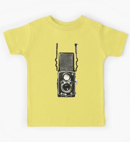 Vintage Medium Format Camera Rolleiflex Twin Lens Reflex (TLR) Kids Tee