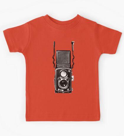 Vintage Medium Format Camera Rolleiflex Twin Lens Reflex (TLR) Kids Tee