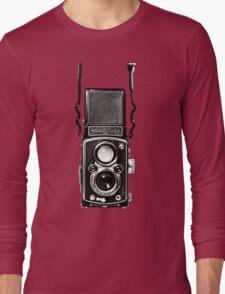 Vintage Medium Format Camera Rolleiflex Twin Lens Reflex (TLR) Long Sleeve T-Shirt