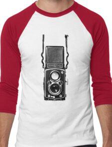 Vintage Medium Format Camera Rolleiflex Twin Lens Reflex (TLR) Men's Baseball ¾ T-Shirt