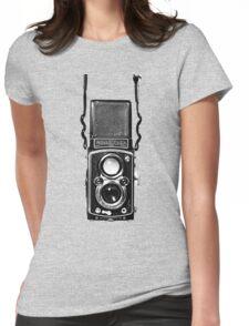 Vintage Medium Format Camera Rolleiflex Twin Lens Reflex (TLR) Womens Fitted T-Shirt