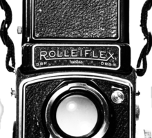Vintage Medium Format Camera Rolleiflex Twin Lens Reflex (TLR) Sticker