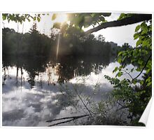 Serenity on the Huron River Poster