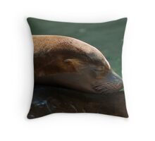'Bonding' ~ Young Sea Lions Throw Pillow