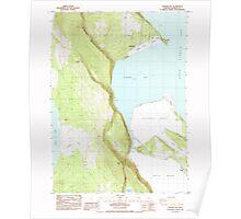 USGS Topo Map Oregon Howard Bay 280255 1985 24000 Poster