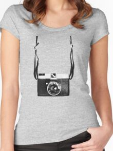 Vintage Camera Diana Plastic Toy Lomo 120 Film Women's Fitted Scoop T-Shirt