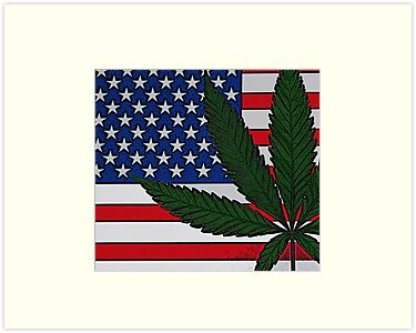 Americana Cannabis Flag by FloraDiabla